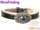 Freshwater Pearl Rhinestone Leather Adjustable Bracelets Fashion Women Jewelry