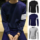 New Stylish Slim Fit Casual Shirt Tee Cotton Men's Long Sleeve T-Shirt NW