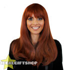 HEAT AND STYLE WIGS STRAIGHT AUBURN HEAT RESISTANT HAIRPIECE FANCY DRESS WIG