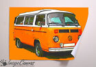 VW ORANGE CAMPER GIANT WALL ART POSTER A0 A1 A2 A3