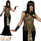 Egyptian Queen Cleopatra Ladies Fancy Dress Womens Adult Costume Black Outfit