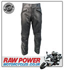 Richa Cafe SHORT Leather Motorcycle Motorbike Trousers - Black