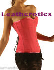 Shocking Pink Cotton Corset Overbust Steel Boned 1919