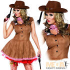Wild West Fever Cowgirl + Cowboy Hat Ladies Fancy Dress Western Costume Outfit