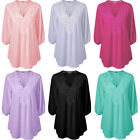 Women's Lady Loose Long Sleeve Casual Blouse Shirt Tops New Fashion Lace Blouse