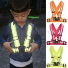Adjustable Kids Safety Security Visibility Reflective Vest Gear Stripes Jacket