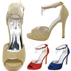 Elegant Open Toe Ankle Strap Sandals High Thin Heels Women Pumps Summer Shoes