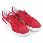 Puma Unisex Classic Suede Lace Up Trainer Red / White