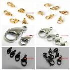 Lot 12mm Stainless steel lobster clasps Jewelry Finding Silver/Gold/Black