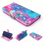 Floral Pattern Flip Faux Leather Phone Full Case Cover for iPhone Samsung Hot