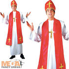 Holy Cardinal Mens Saints & Sinners Priest Fancy Dress Adults Religious Costume