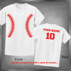 Baseball Spirit Wear Personalize with Name & Number Infant 6M-Youth XL_