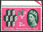 1962 NPY 2½d SG 631 VARIETY, DRAMATIC 'DRY PRINT' OF CARMINE-RED (into a 'Rose-