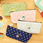 New Pencil Case Bag Coin Pouch Purse Student's Cute Canvas Cosmetic Makeup Bag