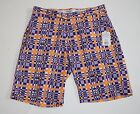Golf Shorts Size 42 Purple Wavy Plaid Flow Golf