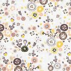 JANE MAKOWER FOLK FLORAL SILVER GREY  100% COTTON FABRIC quilting dressmaking