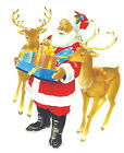 Ceramic Decals Santa Reindeer Christmas Presents
