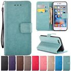Wallet Cards Stand Strap Flip Leather Cover Case For iPhone 5S/6 6s Plus/7 7Plus