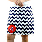 Chevron Atlanta Braves Blue Gameday A Line Striped Yoga Sport Women Skirt XS~ XL
