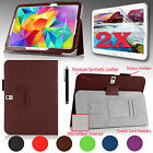 "For Samsung Galaxy Tab S 10.5"" PU Leather Case Stand Cover w/ Hand Strap + Gift"