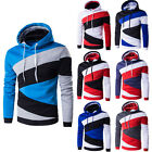 Stylish Men's Slim Fit Hoodies Sweatshirt Patchwork Coat Jacket Outwear Sweater