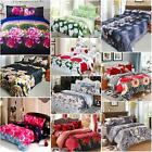 4x 3D Bedding Set King/Queen/Twin Size Bed Cover+Bed Sheet+Pillowcases E7C4