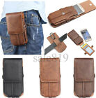 Vertical Leather Pouch Belt Holster Card Slot Case For Apple iPhone 5S/6S/7 Plus