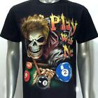 g1 Rock Chang T-shirt Tattoo Skull Glow in Dark Play Pool Snooker Punk Cotton