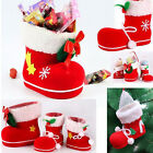 New Santa Claus Boot Candy Holder Gift Sack Stocking Filler Christmas Party Gift