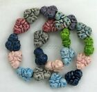 Skull Wheel Ceramic Beads, Assorted Colors, Choice of Lot Size & Price