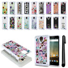 For ZTE Prestige N9132/ Cheers/ Avid Trio Studded Bling HYBRID Case Cover + Pen