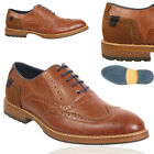 New Mens Brogue Boots Lace Up Casual Ambassador Shoes Office Work UK Size 7-11