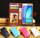For Samsung Galaxy On5 On7 2015 Retro Leather Wallet case Back Cover