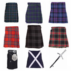 New Scottish Tartan Kids Kilt - All Sizes - Various Tartans - Free Kilt Pin!!