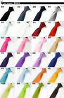 Mens BOYS FASHION Adjustable Pre Tied Wedding Party FANCY PLAIN SKINNY Necktie