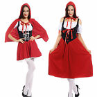 Ladies Little Red Riding Hood Fairytale Storybook Christmas Fancy Dress Costume