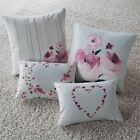 PENELOPE MODERN FLORAL FILLED CUSHION BOUDOIR BED SCATTER CUSHION DUCK EGG