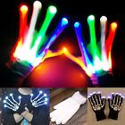 LED Light Gloves Finger Lighting Electro Rave Party Dance Skeleton Halloween CAD