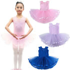 Girls Performance Princess Cotton Dance Dress Lace Stage Show Sleeveless