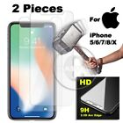2X LIFE PROOF TEMPERED GLASS SCREEN PROTECTOR for iPHONE 7 6S 6 S PLUS SE 5S 5