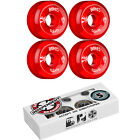 BONES Skateboard Wheels SPF CLEARS Red with INDEPENDENT ABEC 5 Bearings