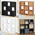 9 Cube Wooden Bookcase Shelving Display Shelves Storage Unit Wood Shelf