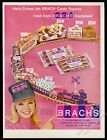 1966 Brach's candy train smiling conductor woman photo vintage print ad