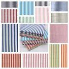 CHAMBRAY YARN DYED STRIPE COTTON FABRIC shirting dressmaking patchwork  METRE