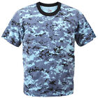 blue camo t-shirt digital sky blue camouflage cotton polyester blend rothco 8947