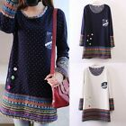 Women Oversized Jumper Dress Pullover Long Sleeve Casual Long Top Blouse T Shirt