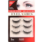 Daiso Japan Value Pack Eyelash Kit (3 pairs) - Glamorous / Natural Long Type