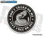Don't Tread on Me Live Free or Die Decal Tattered Snake USA Patriot Sticker TCS