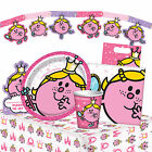 LITTLE MISS - Birthday PARTY RANGE (Tableware/Balloons/Decorations/Girl)(Mr Men)