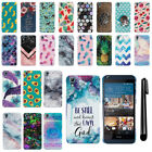 For HTC Desire 626 626S PATTERN HARD Protector Back Case Phone Cover + Pen